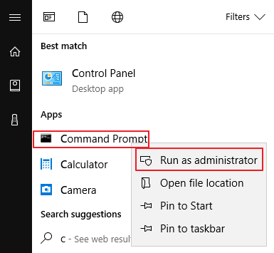 open the command prompt then open run as administrator
