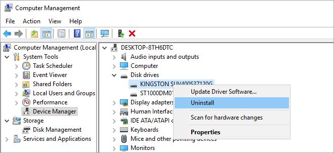 أعد تثبيت برنامج تشغيل بطاقة SD لإصلاح بطاقة SD