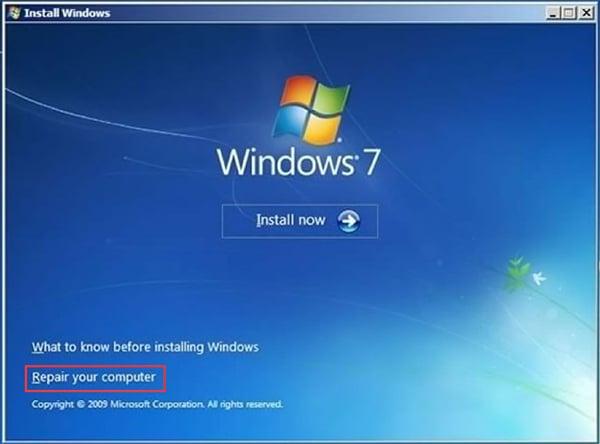 إصلاح windows 7 لا يمكن تهيئة قسم على القرص 0