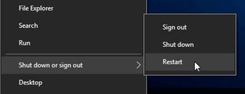 أعد تشغيل الكمبيوتر لإصلاح خيار التنسيق باللون الرمادي
