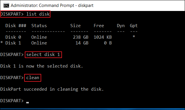كيفية مسح محرك أقراص USB باستخدام Diskpart