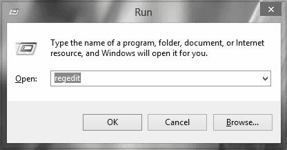 Usare regedit.exe per rimuovere la protezione da scrittura usb.
