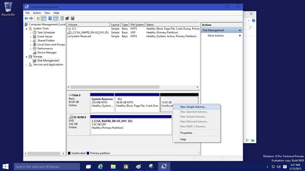 Créez un nouveau volume simple pour afficher le disque dur USB ou externe sur ce PC.