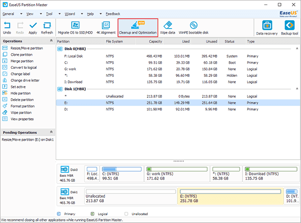 click cleanup and optimization to speed up your pc