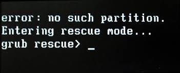 Error grub rescue Windows 10.