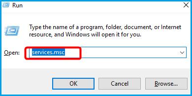 tapez dans services.msc pour désactiver la recherche Windows