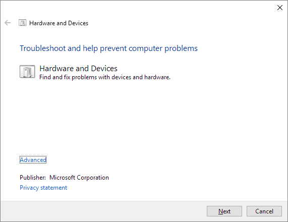 troubleshoot sd card from hardware and device in windows 10
