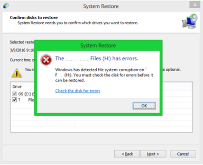 windows has detected file system corruption fix