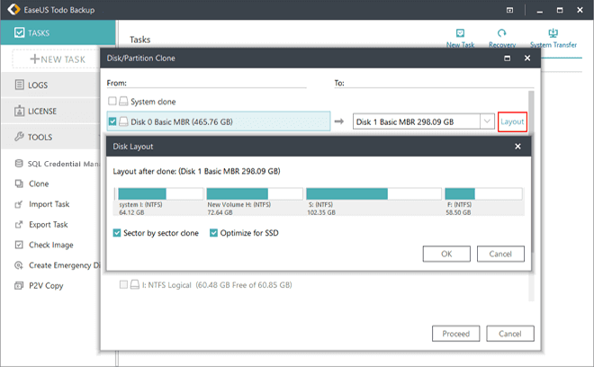 Clone RAID 0, RAID 1 and RAID 5 Disk - EaseUS Todo Backup