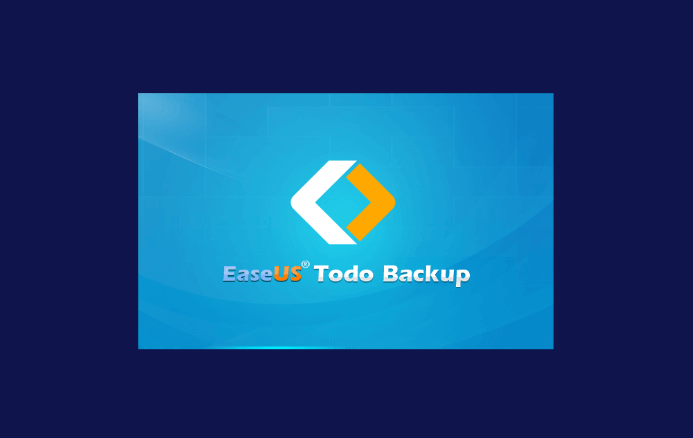 choose EaseUS Todo Backup Windows PE