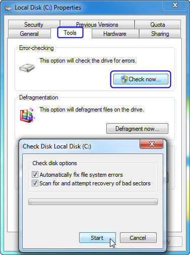 use windows free utility to fix smart error automatically