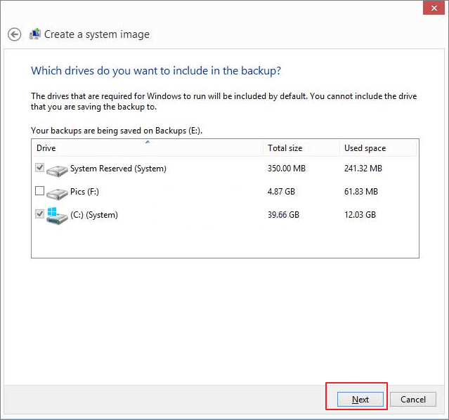 How to Create System Image on USB Drive in Windows 10/8/7