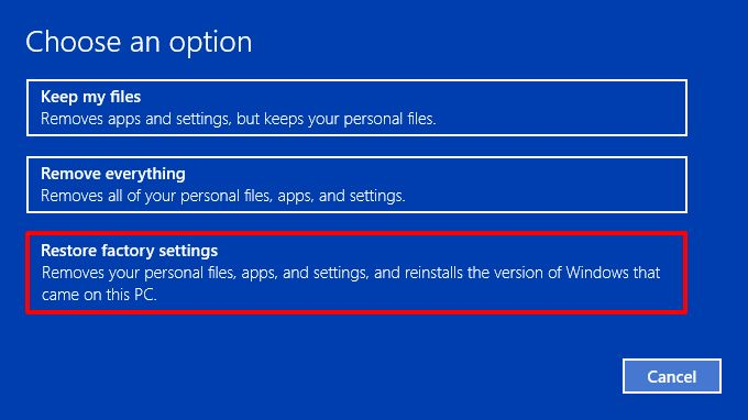 Factory reset Windows 10 PC while keeping your files
