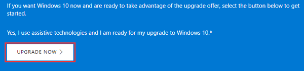 free upgrade windows 10 with assistive technologies