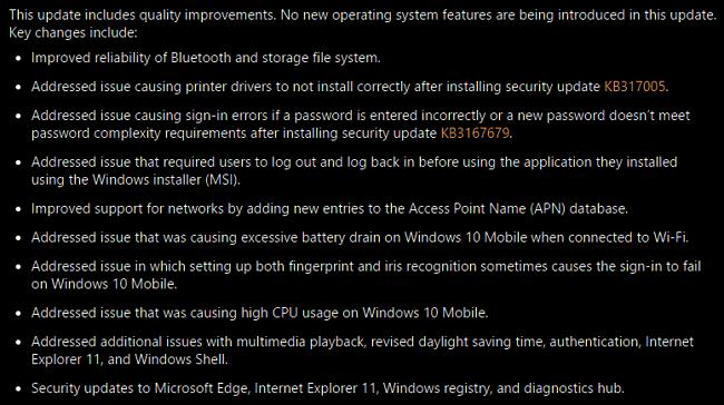 Windows 10 aggiornamento cumulativo KB3194798 costruire 14393.321 caratteristiche