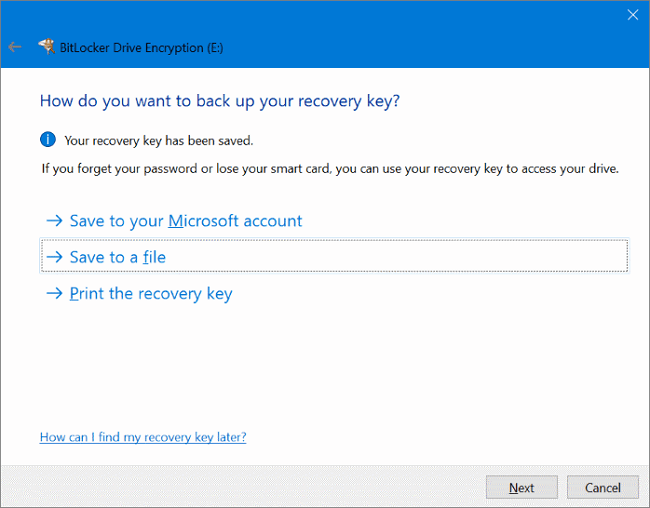 use bitlocker to password protect flash drive in windows 10 step 3