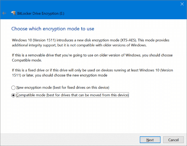 use bitlocker to password protect flash drive in windows 10 step 5