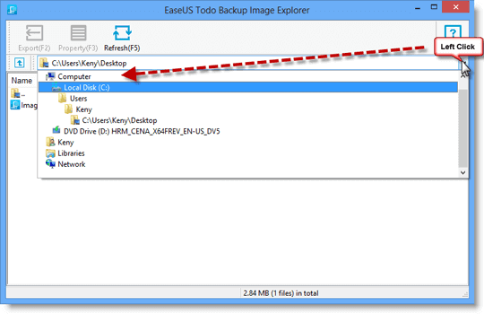EaseUS Todo Backup - How to Use Image Tool