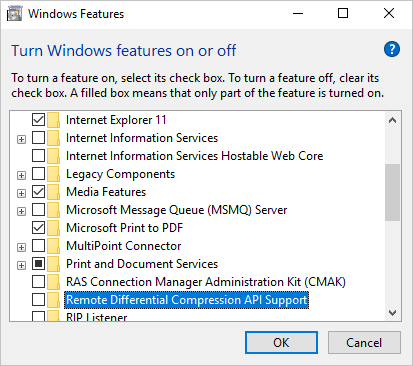 disable RDC to fix Windows 10 slow file transfer