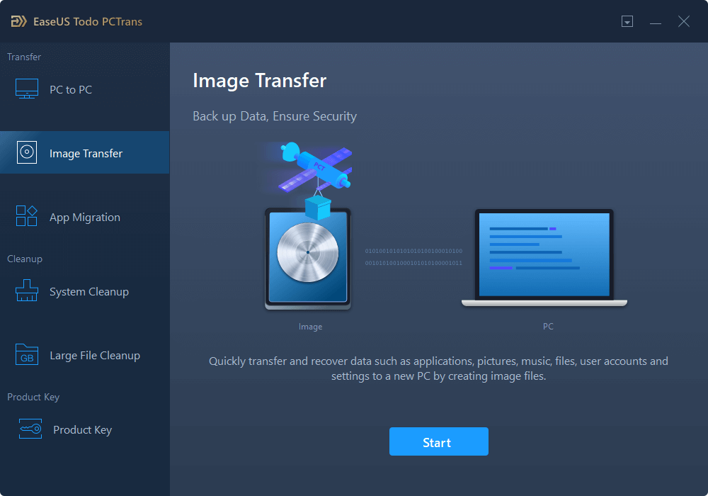 Transfer files from PC to PC without network - step 1