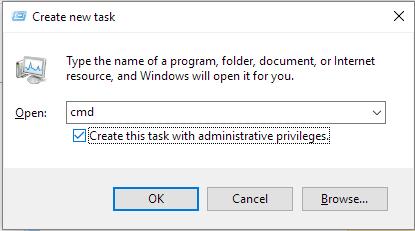 open cmd als adminitrator in windows 10