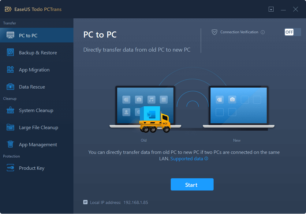 select pc to pc