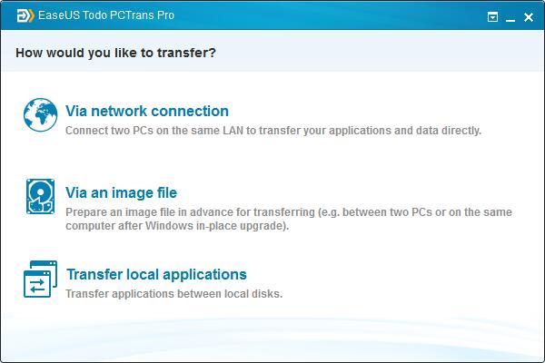 Image de la EaseUS Todo PC Trans - Windows Easy Transfer XP à Windows 10.