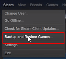 Backup Steam games.