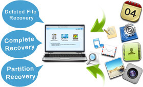 EaseUS data recovery software supports three data recovery modules