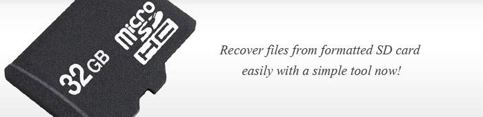 récupération de la carte SD formatée