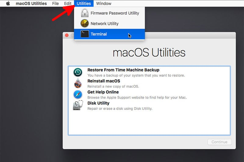 click on utilities menu and launch terminal on Mac