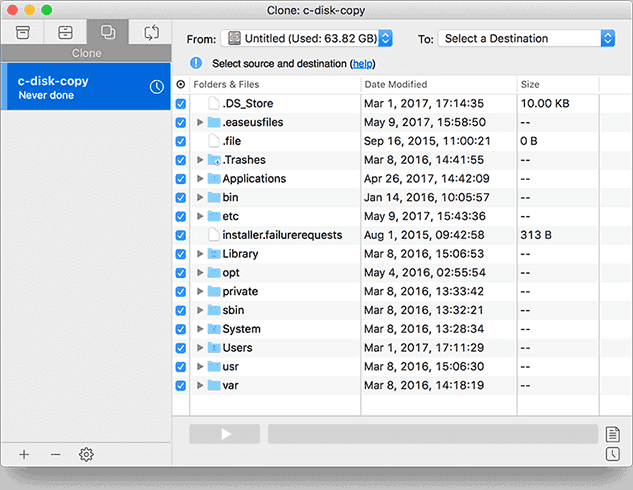The Best Mac Backup Software for Data Backup, OS Clone and File Sync -  EaseUS® Todo Backup for Mac