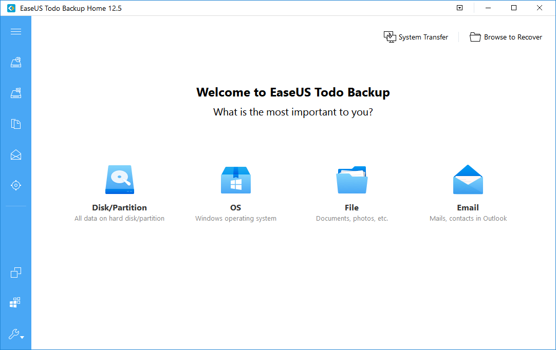 EaseUs Data backup