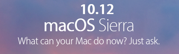 macOS Sierra - 10.12 versión.