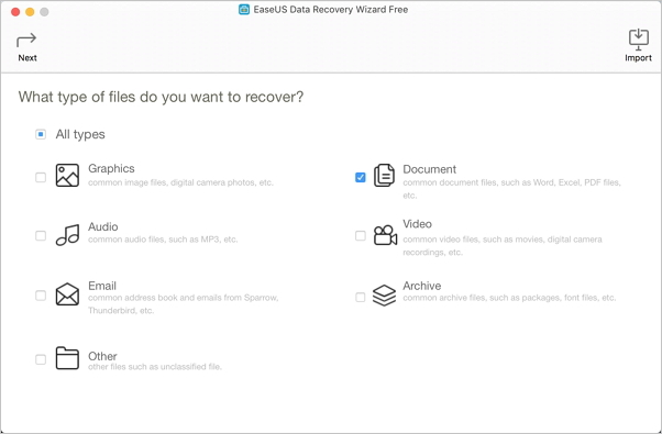 select document to start InDesign file recovery