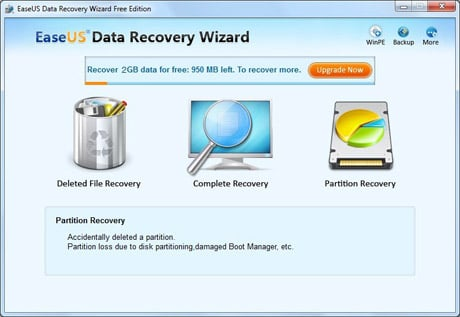 Choose Partition Recovery Module