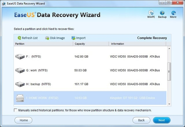 SD card format recovery step 1