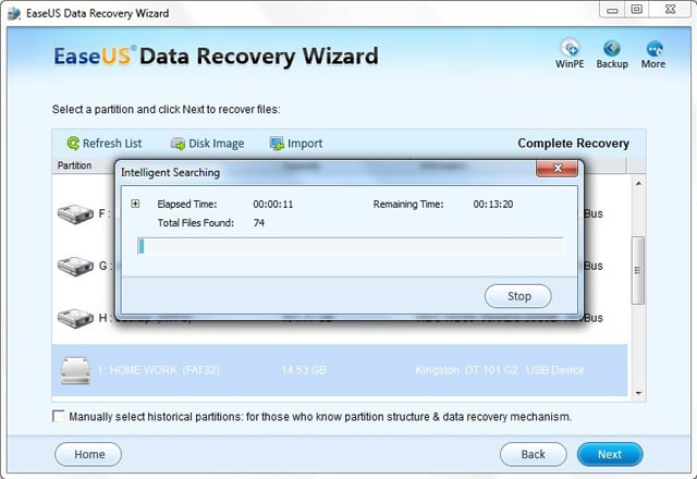 SD card format recovery step 2