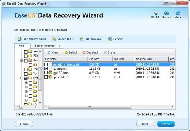 SD card format recovery step 4